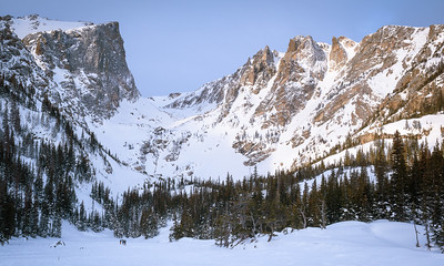 Hallet Peak Climbers at Dream Lake