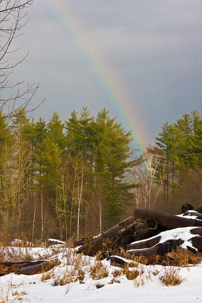 Vermont Rainbow in Winter