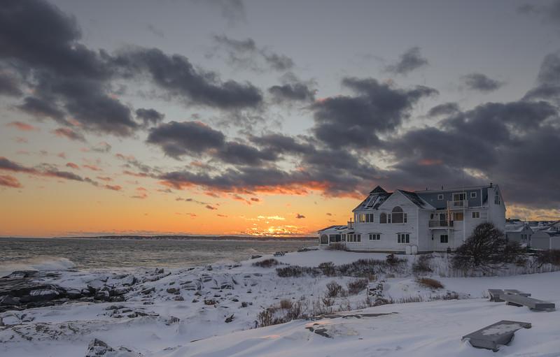 Christmas sunset at Cape Neddick