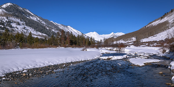 Slate River looking towards Augusta Mountain