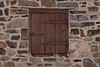Bucks County Shuttered Window and Stone Wall, PA