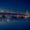 Twilight at the Mackinac Bridge