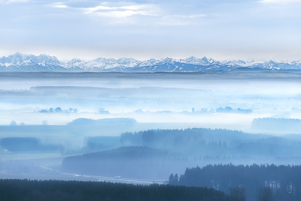Alp view from 100km afar