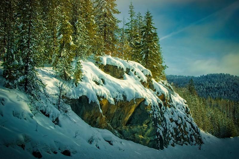 Sun on Summit Snow