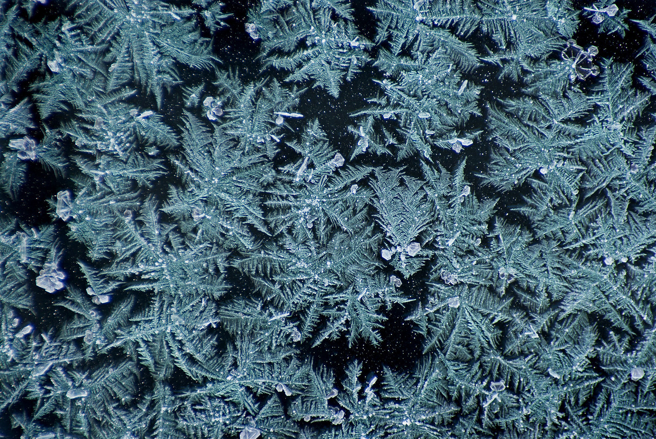 Frost on the windshield