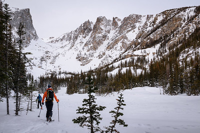 Backcountry Skiers at Dream Lake