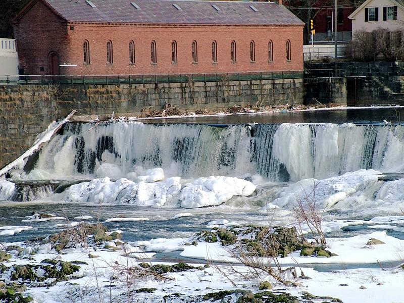 Pawtucket Falls frozen ~ Lowell, MA
