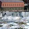 Pawtucket Falls frozen ~ Lowell, MA