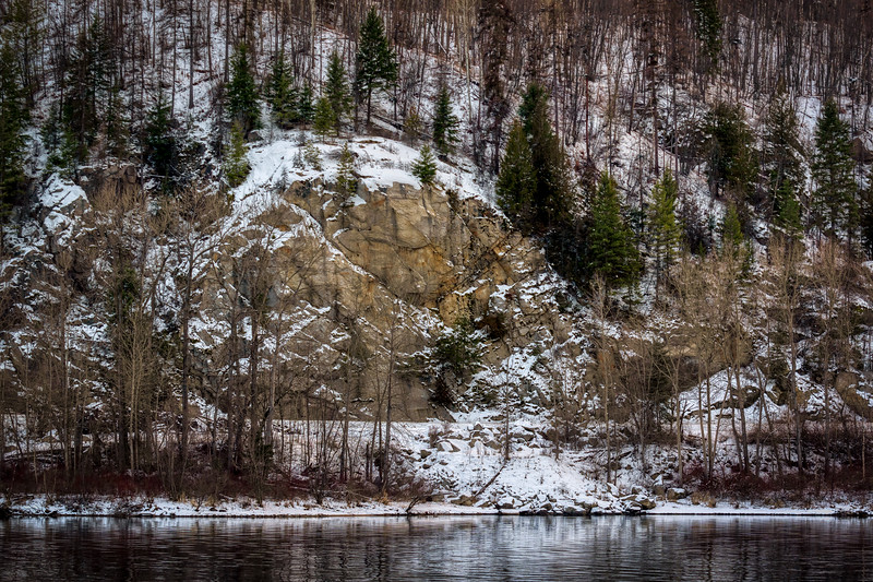 Riverbank in Snow