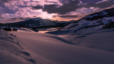 Late afternoon Sunset at Crested Butte