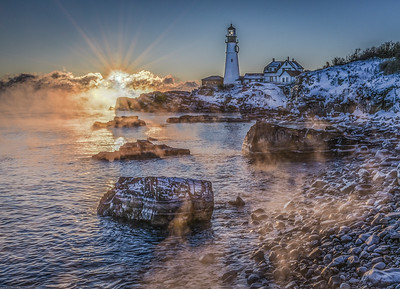 Portland Head Light Sea Smoke New Years 2018
