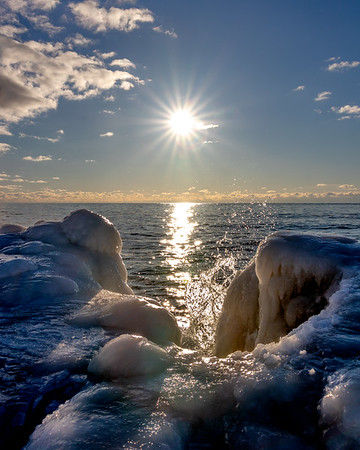 Winter Sunburst in Grand Haven