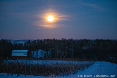 Full Moon Over Brys Estate Vineyard & Winery