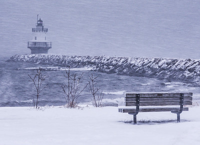 Spring Point Ledge Light - Christmas morning blizzard 2017