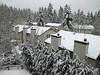 View from the balcony a day later. The increased amount of snow is easily detectable when compared with the previous photo.<br /> <br /> Widok z balkonu dzien pozniej. Wiecej sniegu w porownaniu z poprzednim zdjeciem.