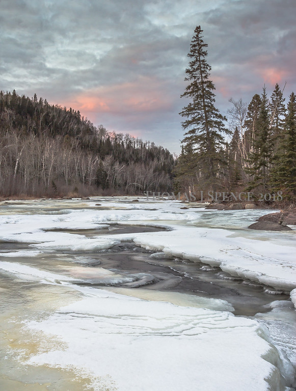 Scenes from the Temperance River in December along the North Shore of Lake Superior in Minnesota