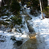 Challenging trail conditions on the way up to Chimney Pond, Katahdin