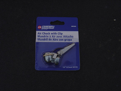 Attach an Air Chuck with a clip.  This is needed if you are blowing out the water by yourself as it attaches to the Blow Out Plug and keeps a constant flow of air.