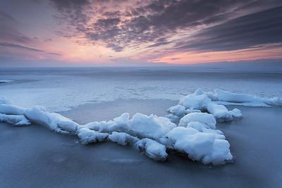 Võrtsjärv in winter