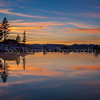Snowy Sunset~Lake Tahoe~Sand Harbor,Nevada