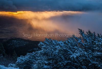 Sunrise over Washoe Valley