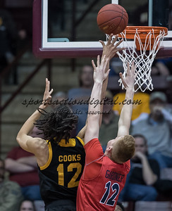 Rock Hill, SC - February 18, 2017, Winthrop Coliseum.  The Winthrop Eagles play the Liberty Flames.  Final score Winthrop 84, Liberty 67.