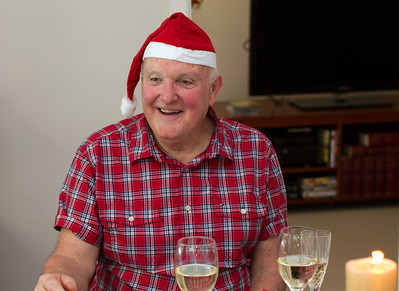 Terry at Christmas Lunch, 2011