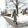 KRISTOPHER RADDER — BRATTLEBORO REFORMER<br /> Jeanne Walsh walks down Main Street, in Brattleboro, Vt., on Thursday, Feb. 6, 2020.
