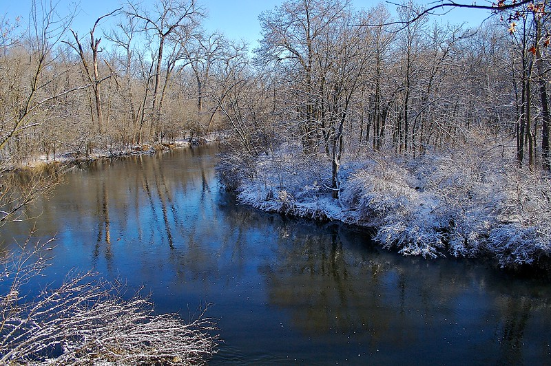 Willow River with fresh snow.