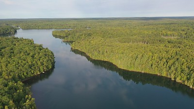 Video clip from the drone flying over Lake Owen