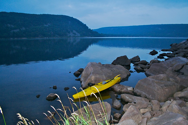 Devils Lake State Park Wisconsin with kayak.