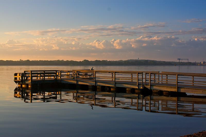 The fishing pier at Potawatomi.