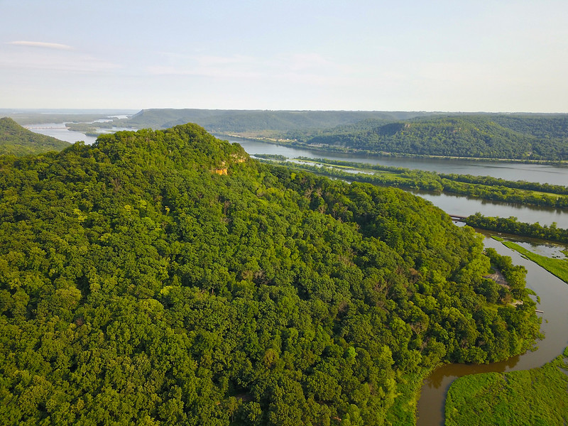 Brady's Bluff Perrot State Park WI. Mississippi River,