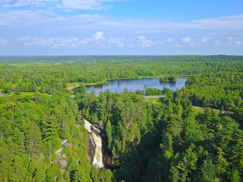 Wisconsins highest waterfall. Big Manitou Falls. Pattison State Park.