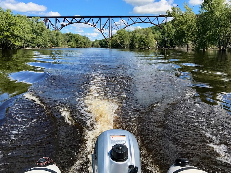 Back down river