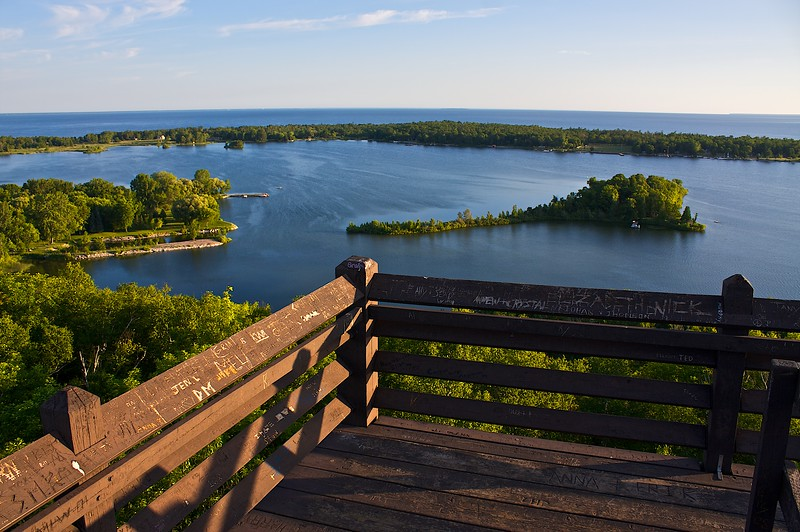 Sunrise from the top of the Observation Tower...Potawatomi State Park Wisconsin. The eastern terminus of the Ice Age Trail.