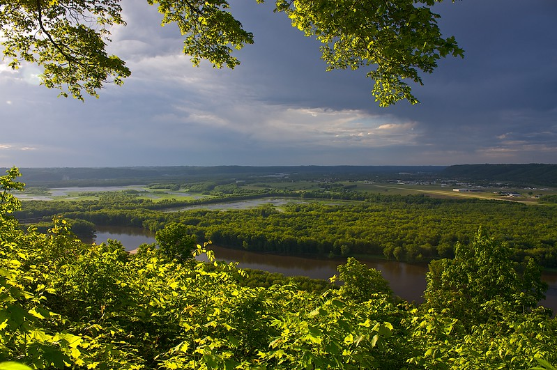 The last wave of sun from Council Point Wyalusing State Park Wisconsin.