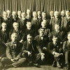 Argyle businessmen around 1910 to 1915 at  a farewell for Father McNultey held at Partridge Hall.