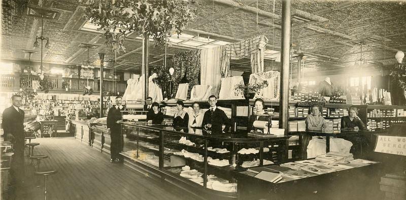 Rossing store interior 1920s.