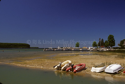 Door County, Boats on Shore of Eagle Harbor, Lake Michigan