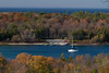 Door County, WI, Pennisula State Park, Nicolet Harbor, Sailboat