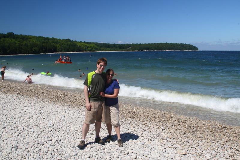 Nikki and Brad at Schoolhouse Beach