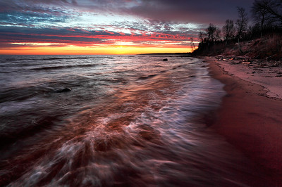 Somber Shores -  River Loop Road (Lake Superior -  Port Wing, WI)