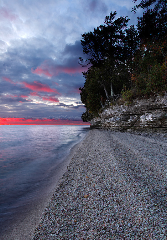 Pink Lined - Northport (Door County - Wisconsin)
