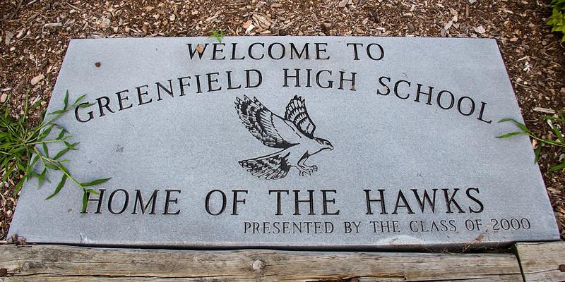 my old neighborhood, my high school.