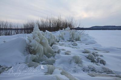 Ice-Covered Beaches