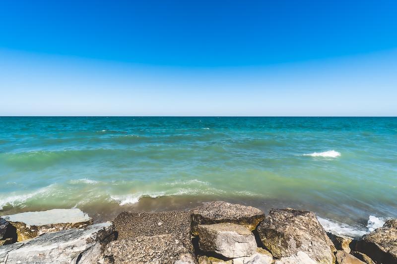 Lake Michigan in Racine Wisconsin