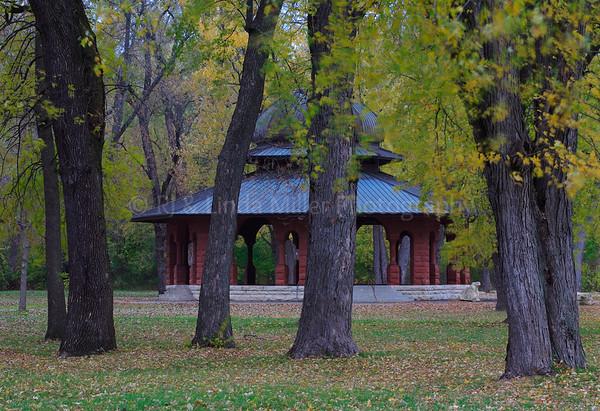 Pettibone Park Gazebo, La Crosse County, Park, Wisconsin, Mississippi River,
