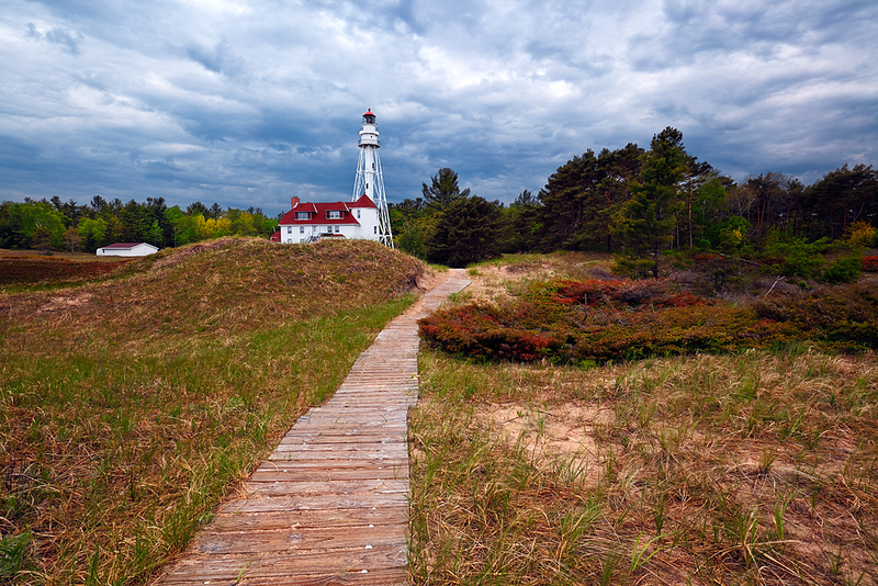 Passing Light - Rawley Point Lighthouse (Point Beach State Forest - Two Rivers, WI)