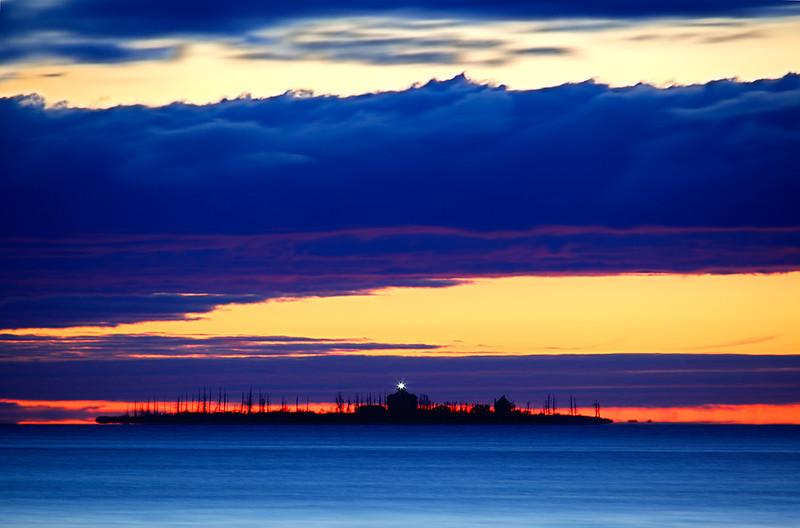 Blue Light - Pilot Island Lighthouse (Door County - Wisconsin)